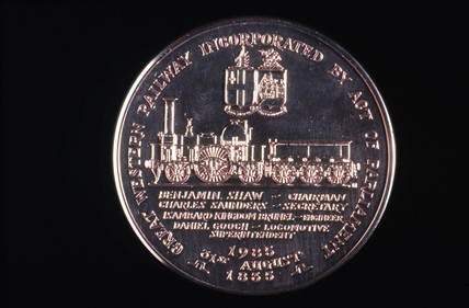 Medal celebrating the 150 years of GWR, 1835-1985.