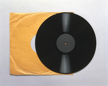An early long-playing (LP) record made from vinyl copolymer, 1950s.