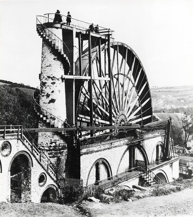 Waterwheel at Laxey, Isle of Man, 1854.
