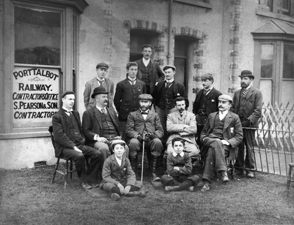 The Pearson Office and staff, Port Talbot, c 1900.