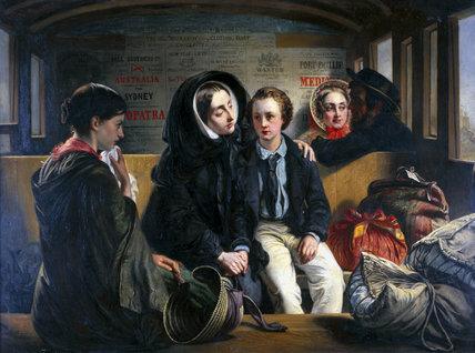 'Second Class - The Parting', 1855.