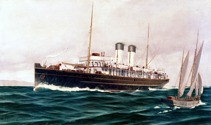 South Eastern & Chatham Railway turbine steamer 'The Queen', 1903.