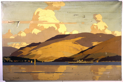 The Firth of Clyde, 1925. Original oil pain