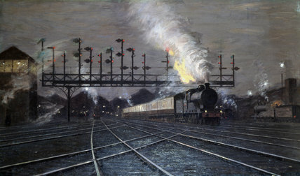'Crewe Junction, Evening (No.2)', 1920s.