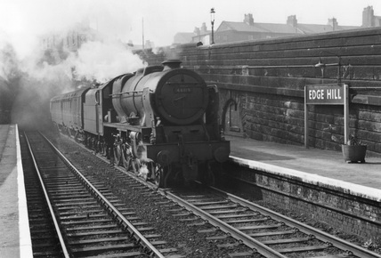 London Midland Scotland (LMS) class 7P 4-6-0 no. 46119.