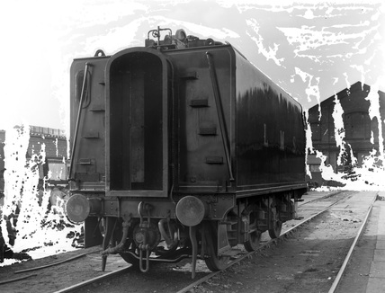 LMS corridor tender, with coaling arrangement. England, 1947. (Derby, DY_35781).
