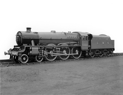 London Midland Scotland (LMS) locomotive no. 5564 Jubilee class 4-6-0, 18th August 1934. DY_19182.