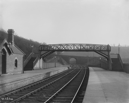 Footbridge over platform Dore & Totley