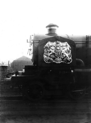 4-6-0 locomotive no. 4082, 'Windsor Castle', with royal coat of arms for King George VI Funeral.