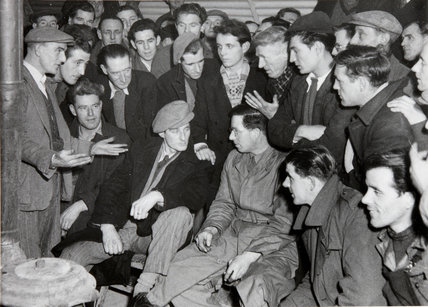 Strike meeting 02-1-1950