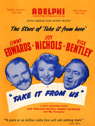 Bill poster for 'Take It From Us', 1951