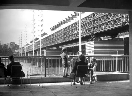 Festival of Britain, view of Bailey Bridge, September 1951