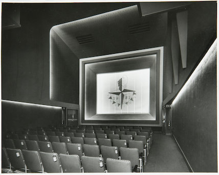 Telekinema Interior by Wells Coats, OBE, June 1951. Small cinema for the Festival of Britain's London South Bank Exhibition