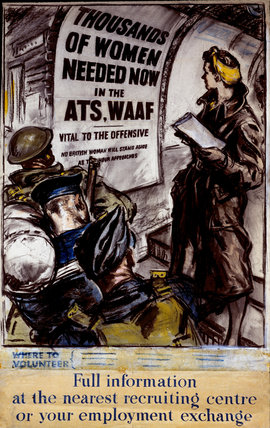 Recruitment Poster to the ATS and WAAF