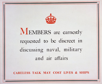 Careless Talk May Cost Lives and Ships