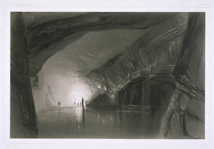 'View Taken in the Mines of Wieliczka', Poland, 1840.