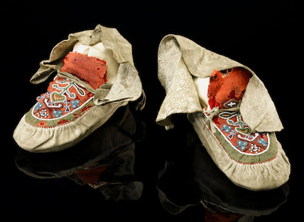 Florence Nightingale's moccasins, c.1856.
