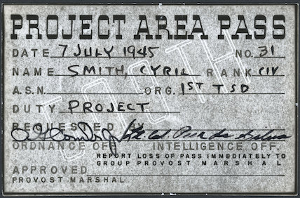 Project Area Pass, 1945.