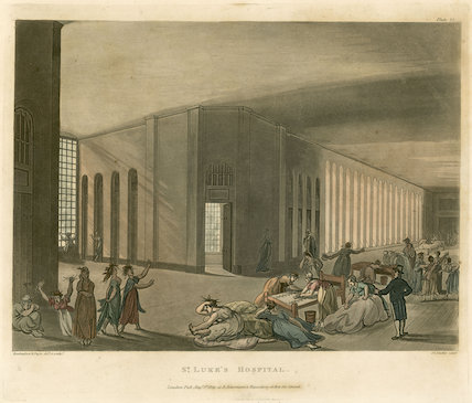 Two aquatints after Rowlandson and Pugin, from Ackermann's Repository of Arts 1809.