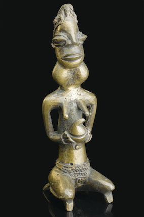 Bronze female statue, Nigeria, 19th century.