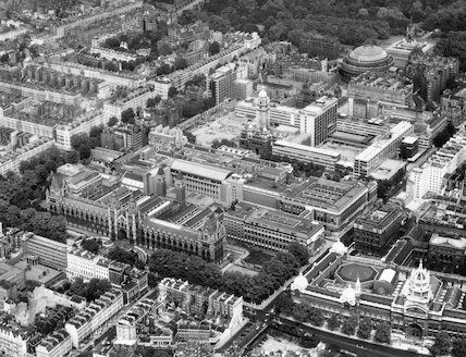 Aerial view of South Kensington taken by Aerofilm Limited, July 1966.
