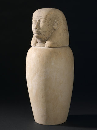 Canopic jar, Egypt, 2000 BCE-100 CE.