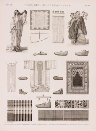 Series of illustrations of traditional clothing.