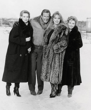 Roger Moore and Girls.