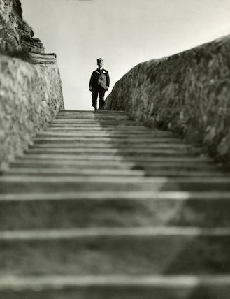 A postman at South Stack lighthouse - 1934
