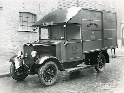A side loading Morris Commercial mail van  - 1932