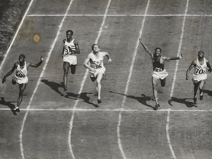 Dillard equals olympic record in 100 metres final, 1948