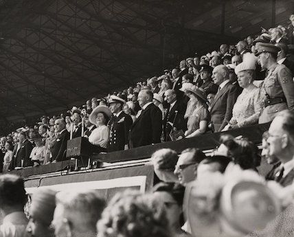 Royal party at opening ceremony of Olympic Games, London, 1948