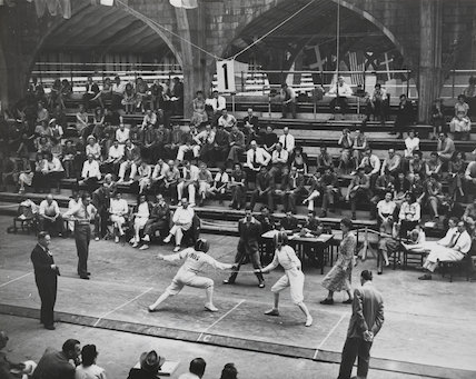 The Olympic Semi Finals of the Foil, Palace of Engineering, Wembley, Olympic Photo Association