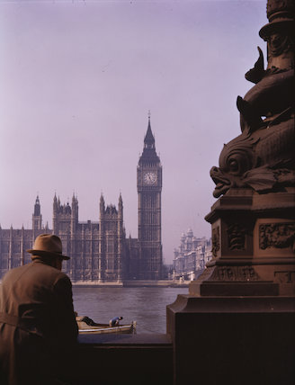 The Houses of Parliament, about 1945