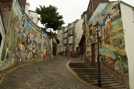 Street view of the Blands Cliff Murals