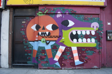Graffiti in East London by Malarky on Commercial Road