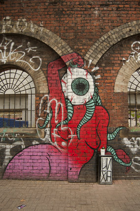 Graffiti on archway in East London