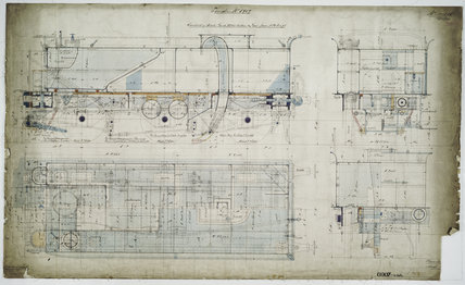 General arrangement drawing of Lancashire & Yorkshire Railway tender unit for '0-6-0' locomotive.41686_6907