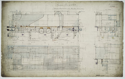 General arrangement drawing of Lancashire & Yorkshire Railway tender unit for '4-4-0' locomotive.42223_6953