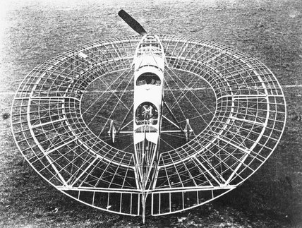 Lee-Richards annular monoplane no. 1, November 1913. Complete except for its fabric covering. It was developed during the period 1911-1914.
