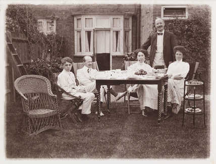Tea in Garden at 35', about 1910.