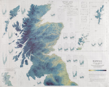 Rainfall Map Of Scotland And Northern England Annual