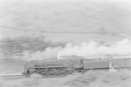 A steam locomotive hauling a goods train,A1969.70/Box 5/Neg 1246/17