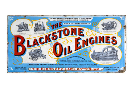 Blackstone Oil Engine sign, 20th cent