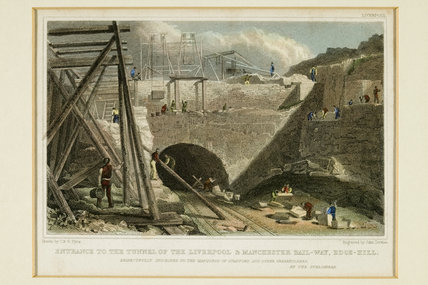 Entrance to the Tunnel of the Liverpool & Manchester Rail-way, Edge-Hill', 1835.