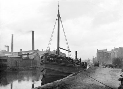 Scottish canal, about 1910