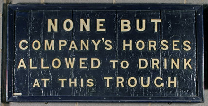 Notice, wooden, ex Camden Goods Depot.