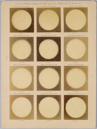 Photograph of the sun taken with a Dallmeyer photo-heliograph, at Wilna Observatory taken during the period 1871-75.
