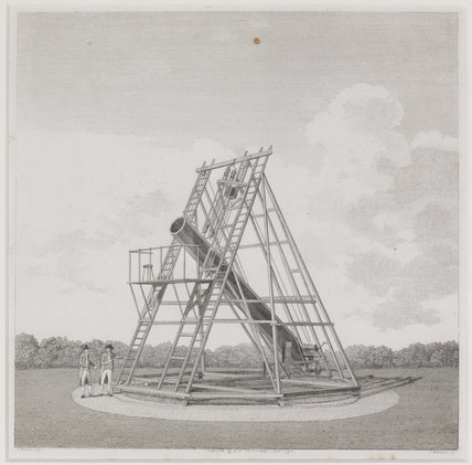 Engraving of Herschel's 20ft. telescope made in 1783.
