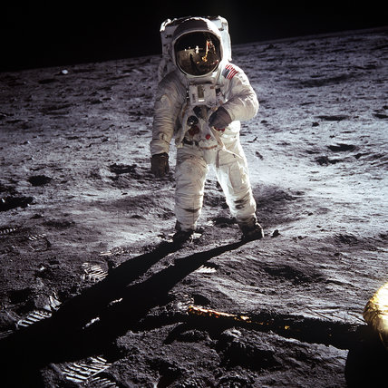 Buzz Aldrin on the Moon, 20th July 1969